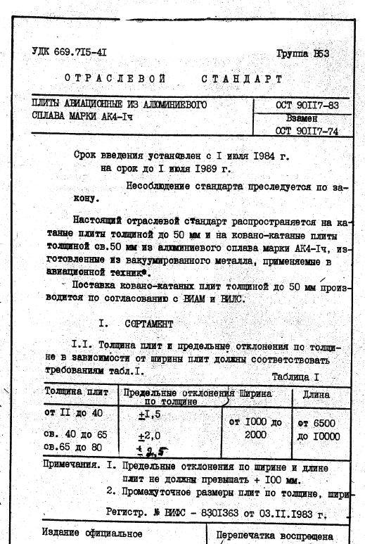 ОСТ 1 90117-83