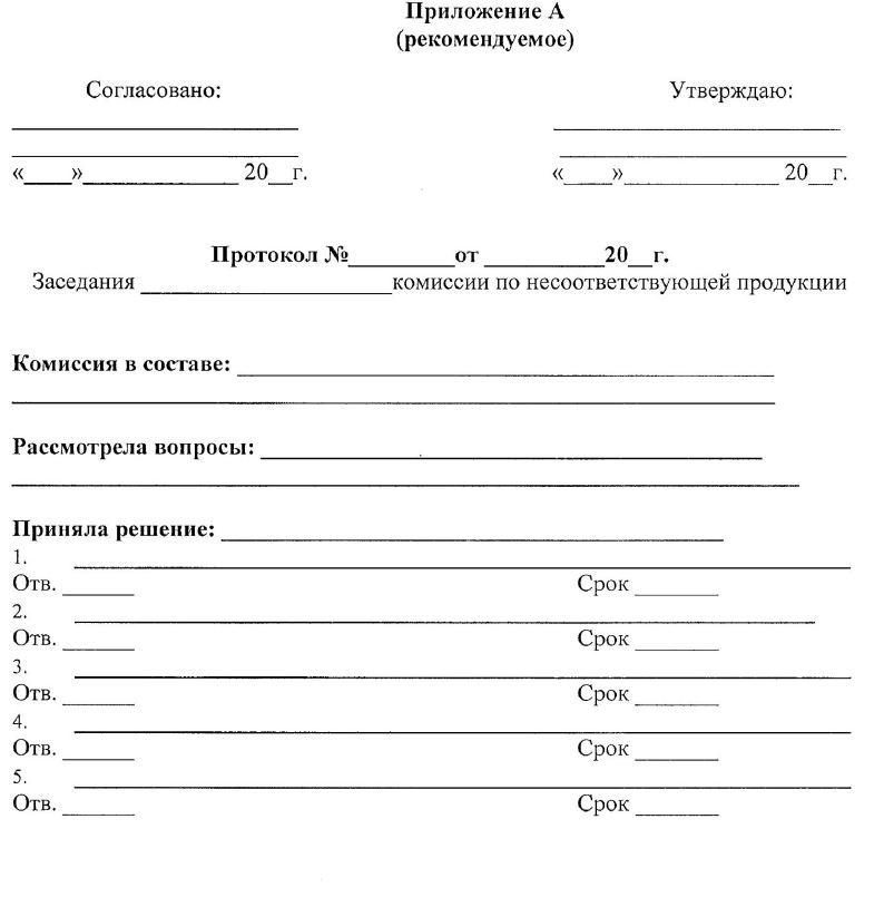 протокол комиссии принятия решений