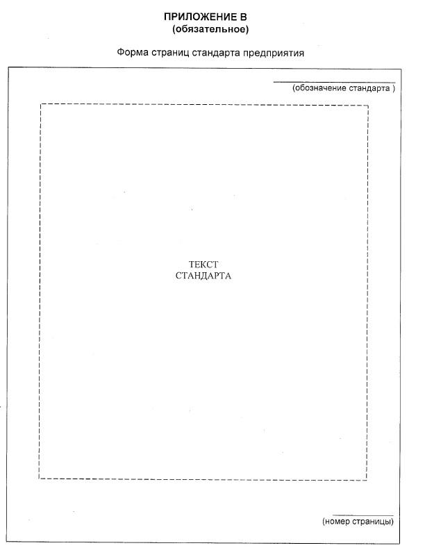 Форма страниц стандарта предприятия