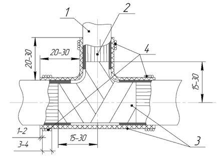 ТП одевание трубки эск 9 фиксированное на 3