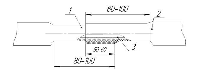 ТП одевание трубки эск 11 сращивание термоусад