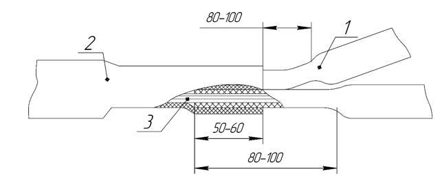 ТП одевание трубки эск 12 сращивание термоусад