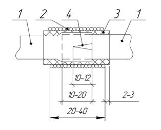 ТП одевание трубки эск 2 сращивание одного диаметра