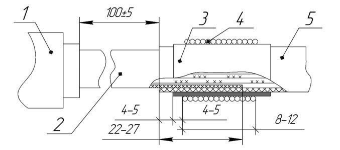ТП одевание трубки эск 3 сращивание разного диаметра