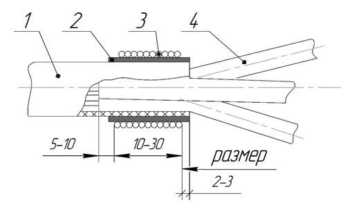 ТП одевание трубки эск 5